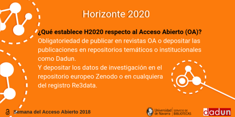 Horizonte 2020 y el acceso abierto.
