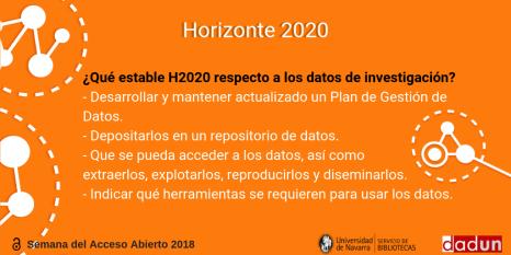 Horizonte 2020 y datos de investigación