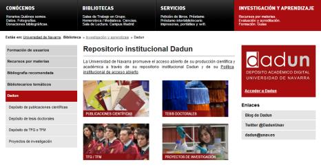 Nuevas páginas web de Dadun.